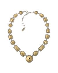 1928 - Metallic Geometric Stone Collar Necklace - Lyst