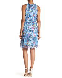 T Tahari - Blue Deborah Floral-print Dress - Lyst