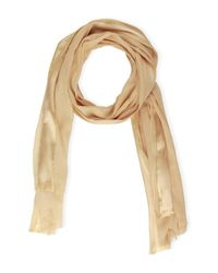 Saachi - Natural Taupe Gold Trim Wrap - Lyst