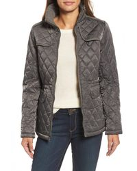 Vince Camuto - Multicolor Mixed Media Quilted Jacket - Lyst