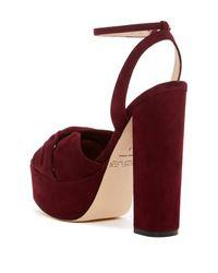 Rachel Zoe - Red Claudette Suede Platform Sandal - Lyst