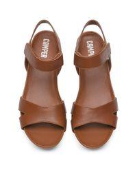 Camper - Brown Micro Wedge Sandal - Lyst