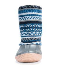 Muk Luks - Blue Sydney Cuffed Rainboot - Lyst