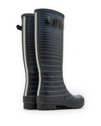 Joules - Black Wellyprint Tall Rain Boot - Lyst