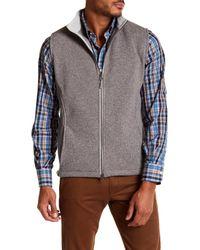Peter Millar - Gray Melbourne Front Zip Vest for Men - Lyst