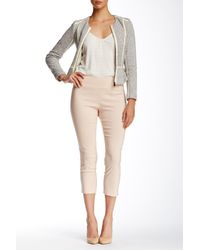 Insight | Pink Solid Techno Pull On Cropped Pant | Lyst