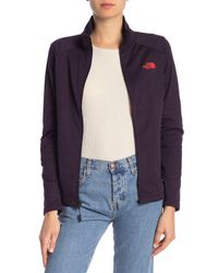 The North Face - Purple Tech Mezzaluna Full Zip Jacket - Lyst