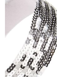 Cara - Metallic Sequin Headband - Lyst