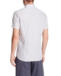 Ted Baker - Gray Micro Stripe Sim Fit Shirt for Men - Lyst