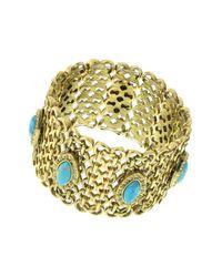 1928 - Metallic Wide Mesh Stretch Bracelet - Lyst