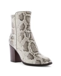 Donald J Pliner | Multicolor Sonoma Snake-embossed Block Heel Boot | Lyst