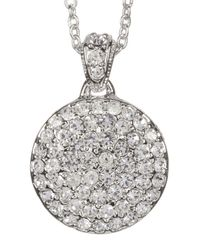 Nadri - Metallic Pave Mini Disc Pendant Necklace - Lyst