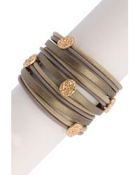 Saachi - Multicolor Signature Hammered Beaded Faux Suede & Leather Multi-strand Bracelet - Lyst