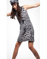 Norma Kamali | Gray Sleeveless Swing Dress | Lyst
