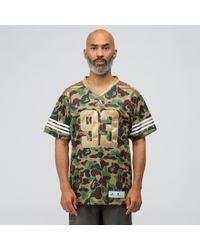 738694e7 adidas X Bape Football Jersey In Multicolor in Green for Men - Lyst