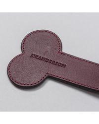 J.W.Anderson - Purple Leather Penis Keychain In Bordeaux for Men - Lyst