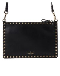 Valentino - 17ss Women's Bag Rockstud Shoulder Black - Lyst