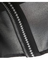 3.1 Phillip Lim - Black S/s Embroidered Silk Top - Lyst