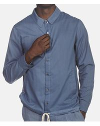 By Walid - Blue Cotton Poplin Joel Shirt for Men - Lyst