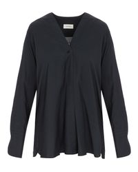 Lemaire - Blue Wrapover Shirt - Lyst