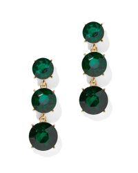 New York & Company - Green Triple Crystal Drop Earring - Lyst