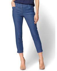 New York & Company - Blue The Audrey Crop Pant - Denim - Lyst
