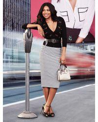 New York & Company - Black 7th Avenue - Chelsea Cardigan - Elbow Sleeve - Cherry Print - Lyst