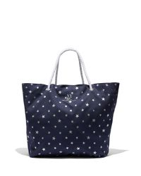 New York & Company - Blue Metallic-foil Star-print Canvas Tote Bag - Lyst