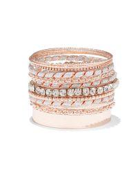 New York & Company - Pink 10-piece Rose Goldtone Bangle Bracelet Set - Lyst