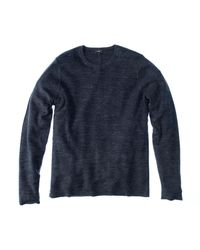 VINCE | Blue Thermal Long Sleeve Crew Sweater for Men | Lyst