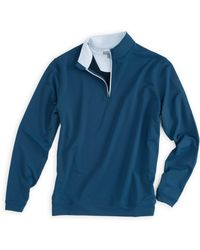 Peter Millar - Blue Perth 1/4 Zip Pullover for Men - Lyst