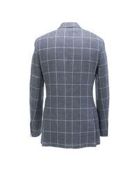 Canali - Gray Windowpane Sportcoat for Men - Lyst