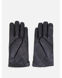 OAK - Black Rabbit Lined Leather Glove - Lyst