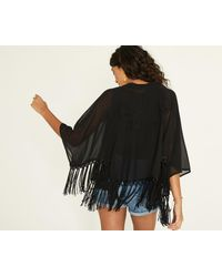 Oasis - Black 'lucy' Cape - Lyst