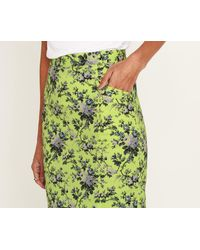 Oasis - Green Provence Pencil Skirt - Lyst