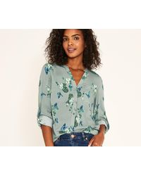 Oasis - Green Butterfly Shirt - Lyst