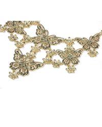 Oasis - Metallic Butterfly Collar - Lyst