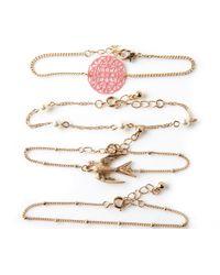 Oasis - Metallic Friendship Bracelet Pack - Lyst