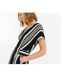 Oasis - Black Stripe WIGGLE Dress - Lyst