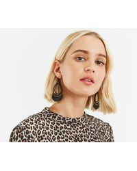 Oasis - Black Teardrop Shard Earrings - Lyst