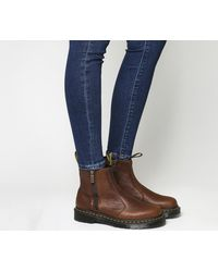 aa1f5184d2 Dr. Martens 2976 Zip Chelsea Boots in Brown - Lyst