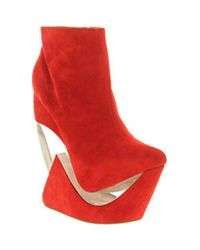 Jeffrey Campbell - Red Zoom Wedge Ankle Bt - Lyst
