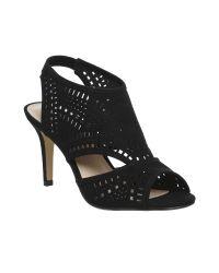 Office | Black Mabel Lazer Cut Shoe Boots | Lyst