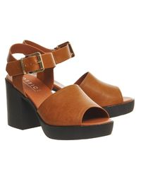 Office - Brown Mission Chunky Sandals - Lyst