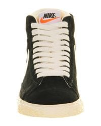 Nike - Black Blazer Hi Vintage Suede Sneakers for Men - Lyst