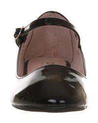 Office - Black Kontrary Strap Ballerina Shoes - Lyst
