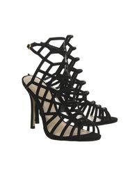 Office - Black Trance Caged Heels - Lyst
