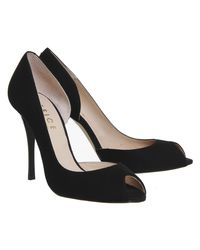 Office - Black Niagra Peep Toe Dorsay Court Heels - Lyst