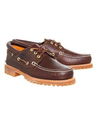 Timberland - Brown Cleated Boat Shoe for Men - Lyst