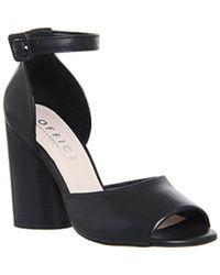 Office - Black Anon Wide Heel 2 Part Sandal - Lyst